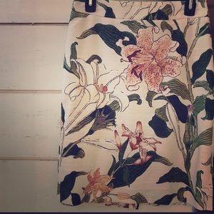 Stunning Ann Taylor Floral Print Pencil Skirt 4P